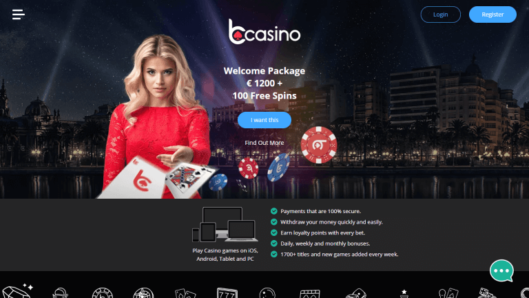 bCasino Screenshot 1