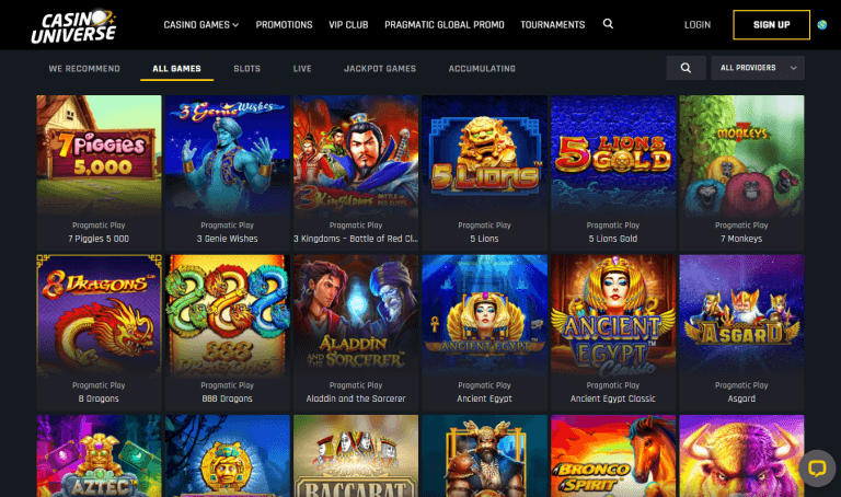 Casino Universe Screenshot 3
