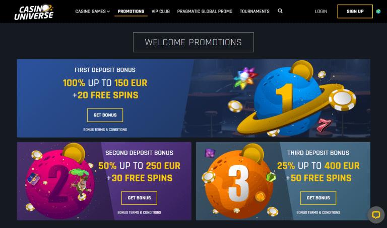 Casino Universe Screenshot 2