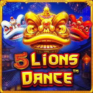 5 Lions Dance logo achtergrond