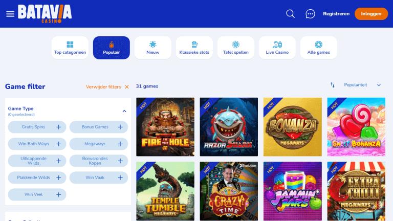 Batavia Casino Screenshot 2