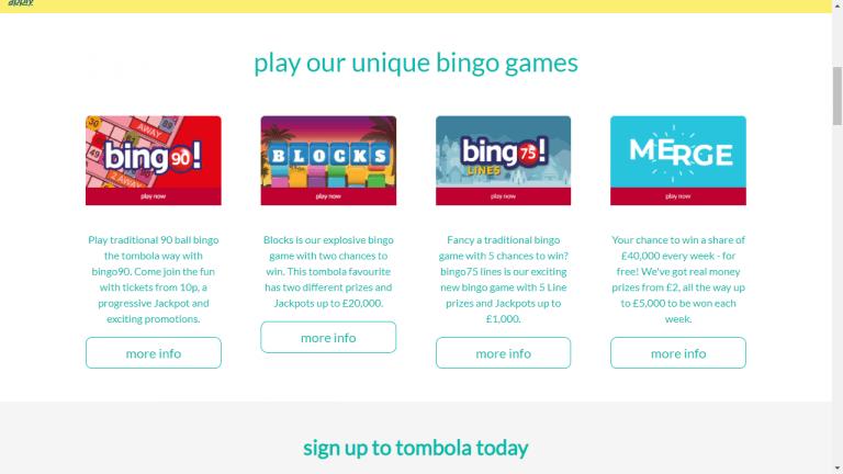 Tombola Screenshot 2