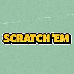 Scratch 'Em logo achtergrond
