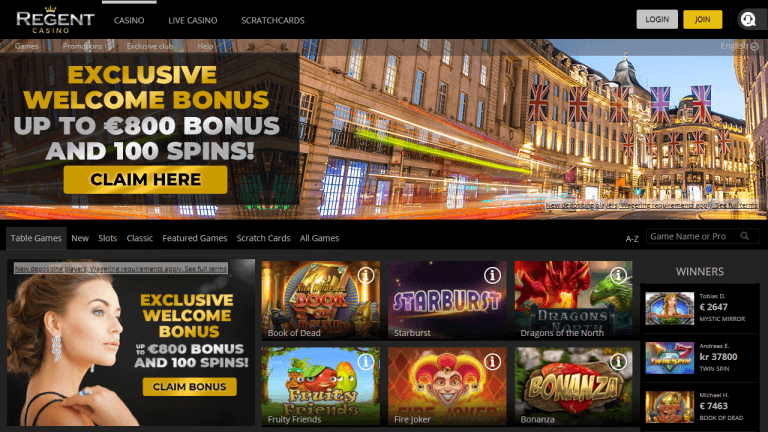 Regent Casino Screenshot 1