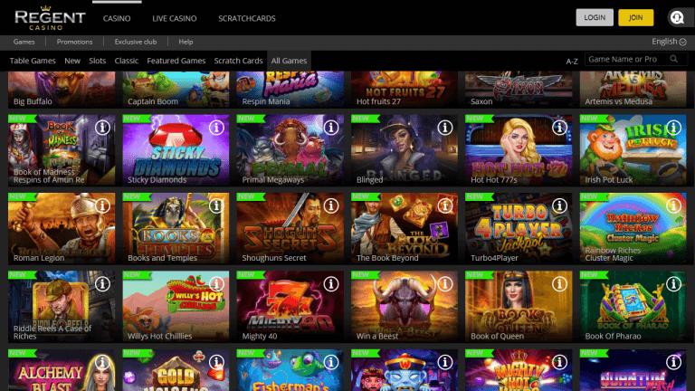 Regent Casino Screenshot 2