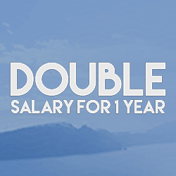 Double Salary For 1 Year logo review