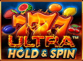 Ultra Hold and Spin logo achtergrond