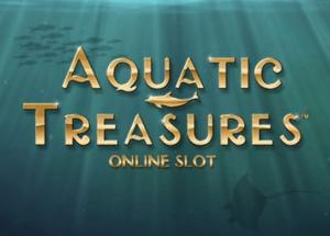 Aquatic Treasures logo achtergrond
