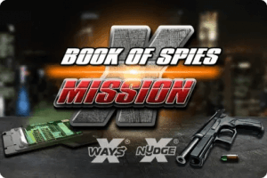 Book Of Spies Mission X logo achtergrond