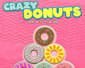 Crazy Donuts logo achtergrond