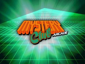 Mystery Club Arcade logo achtergrond