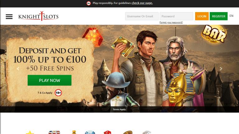 KnightSlots Casino Screenshot 1