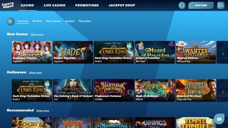 SuperNopea Casino Screenshot 2