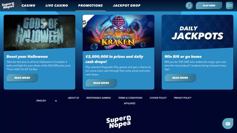 SuperNopea Casino Screenshot 3