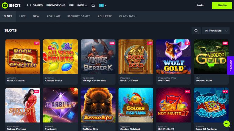 Gslot Casino Screenshot 2
