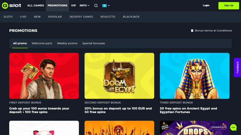 Gslot Casino Screenshot 3