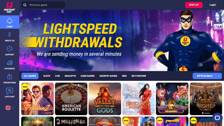 Instant Pay Casino Screenshot 1