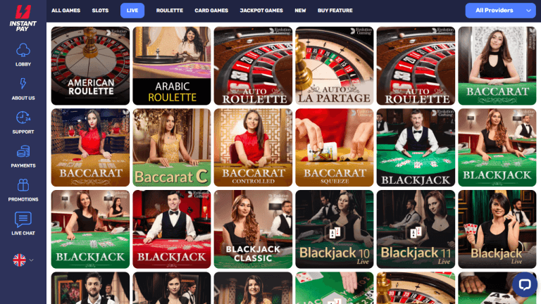 Instant Pay Casino Screenshot 2