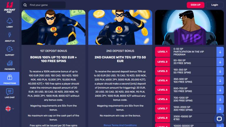Instant Pay Casino Screenshot 3