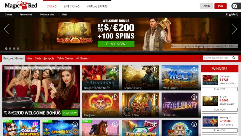 Magic Red Casino Screenshot 1