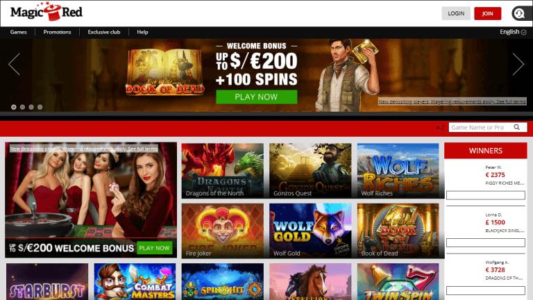 Magic Red Casino Screenshot 3
