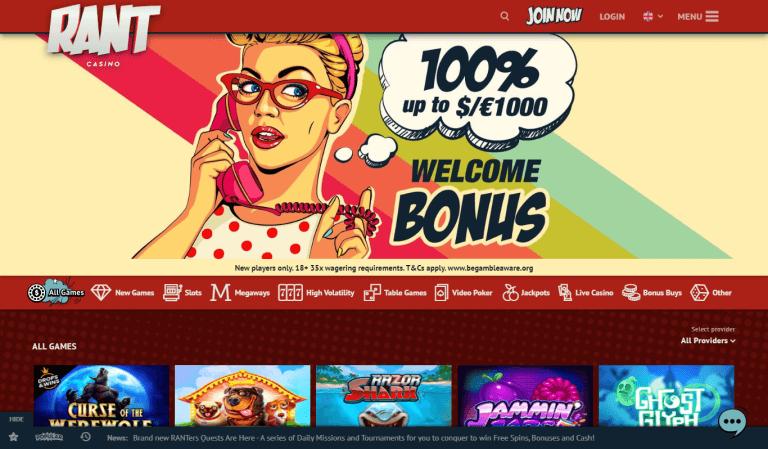 Rant Casino Screenshot 1