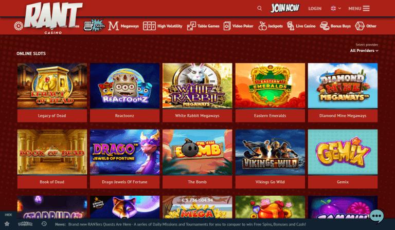 Rant Casino Screenshot 3