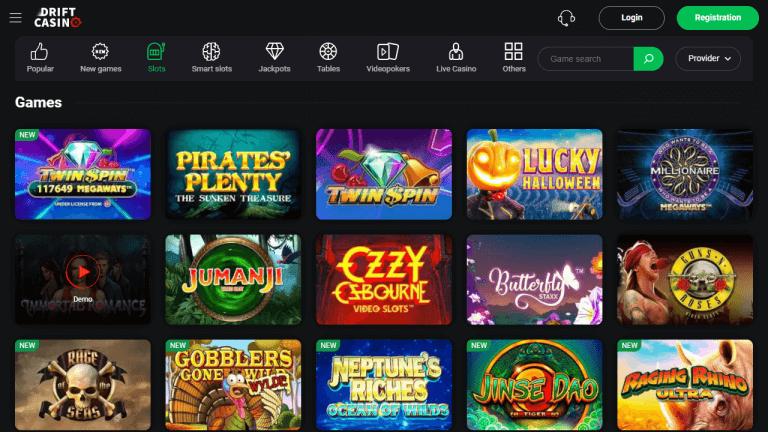 Drift Casino Screenshot 2