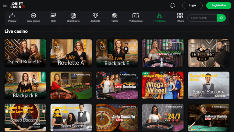 Drift Casino Screenshot 3