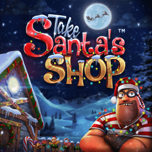 Take Santa's Shop logo achtergrond