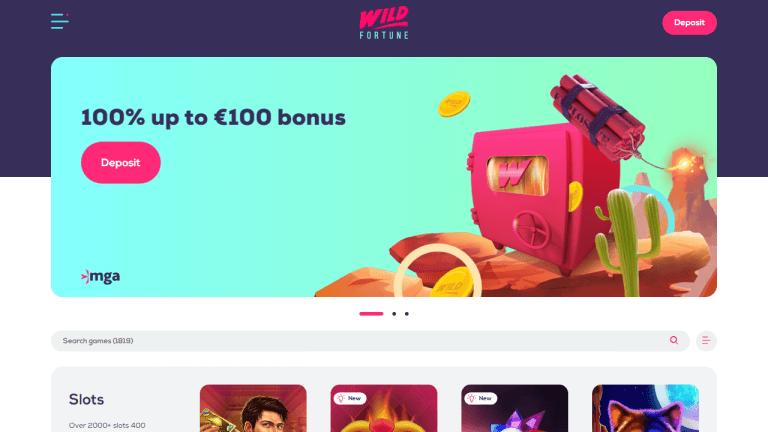 Wild Fortune Casino Screenshot 1