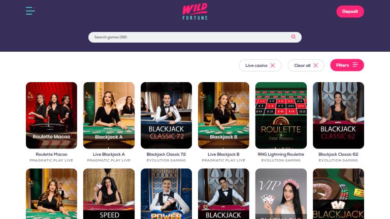 Wild Fortune Casino Screenshot 3