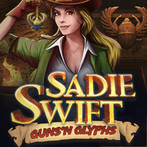 Sadie Swift: Guns 'n Glyphs logo achtergrond