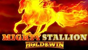 Mighty Stallion logo achtergrond