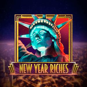 New Year Riches logo achtergrond