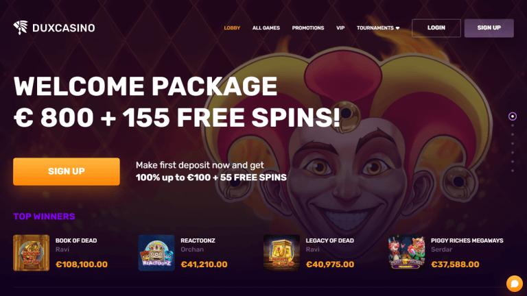 Dux Casino Screenshot 1