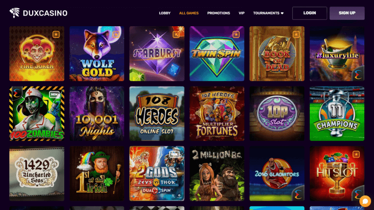 Dux Casino Screenshot 2