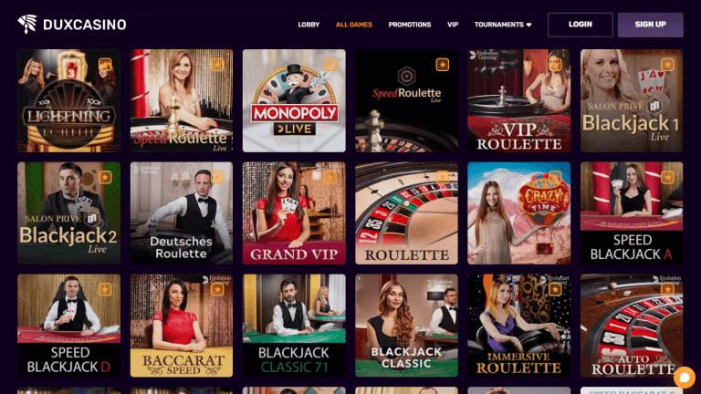 Dux Casino Screenshot 3