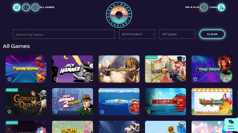 Ocean Breeze Casino Screenshot 2