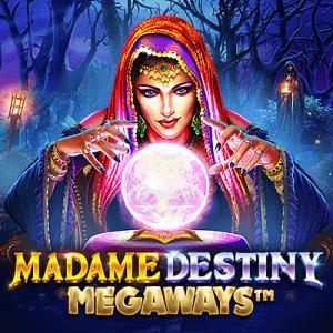 Madame Destiny Megaways logo achtergrond