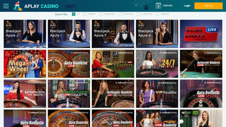 APlay Casino Screenshot 3