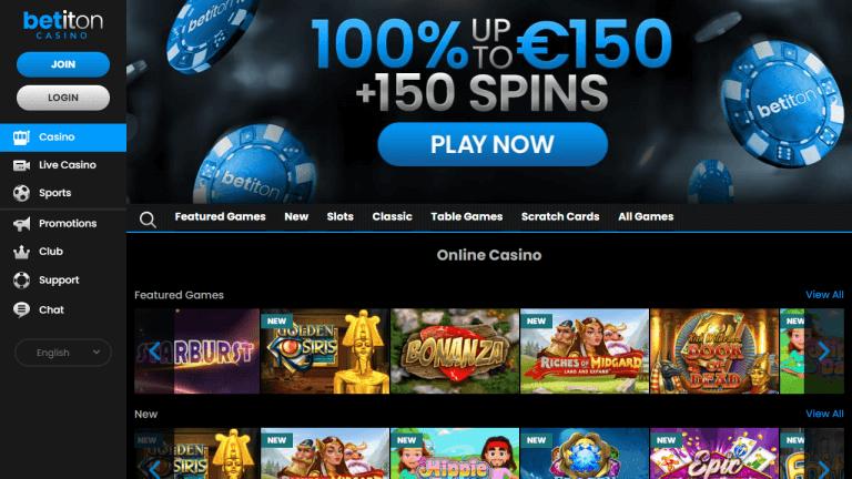 Betiton Casino Screenshot 1