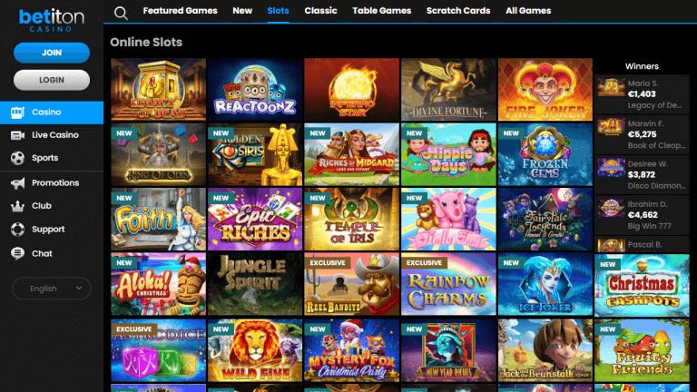 Betiton Casino Screenshot 2