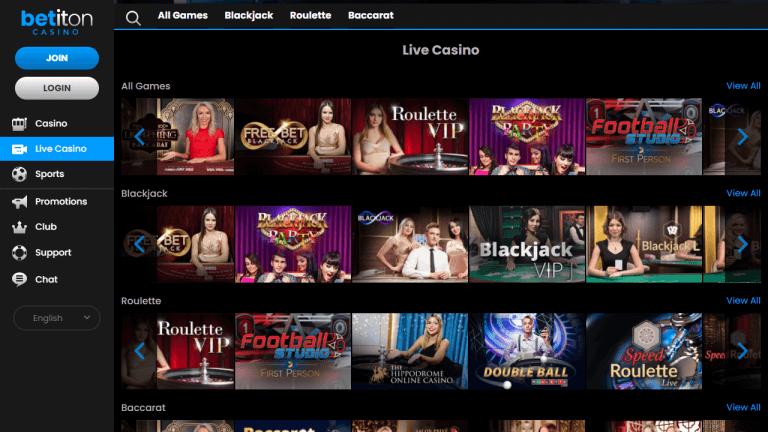 Betiton Casino Screenshot 3