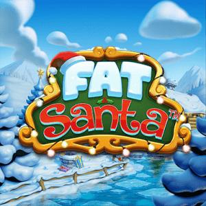 Fat Santa logo achtergrond