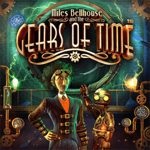 Miles Bellhouse and the Gears of Time logo achtergrond