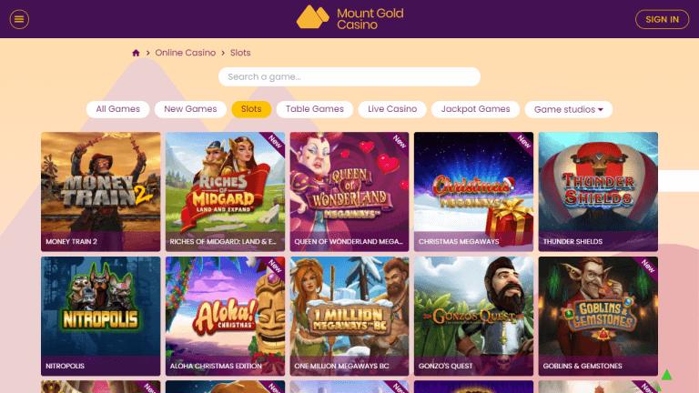 Mount Gold Casino Screenshot 2