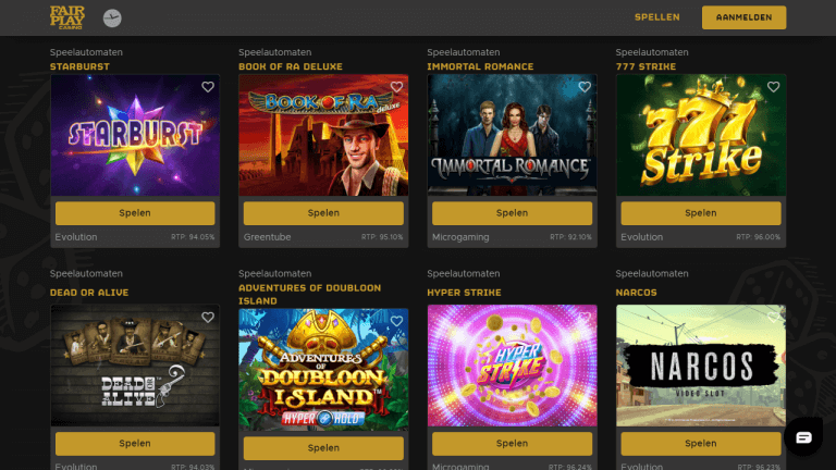 Fair Play Casino Screenshot 2