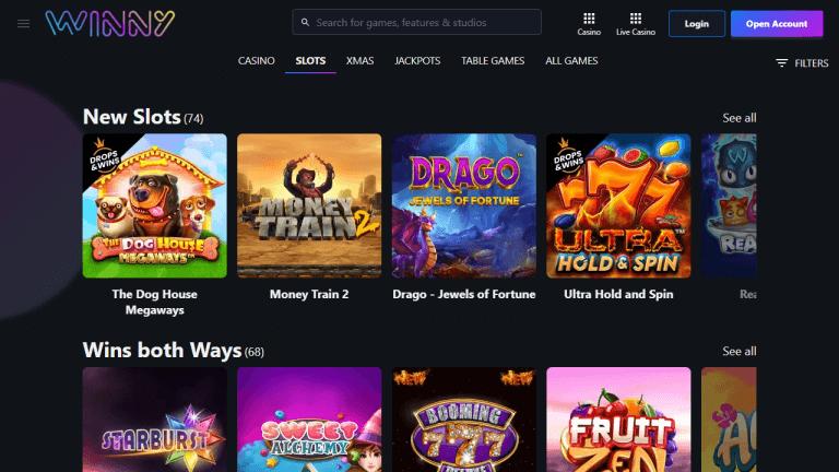 Winny Casino Screenshot 2