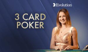 Three Card Poker logo achtergrond